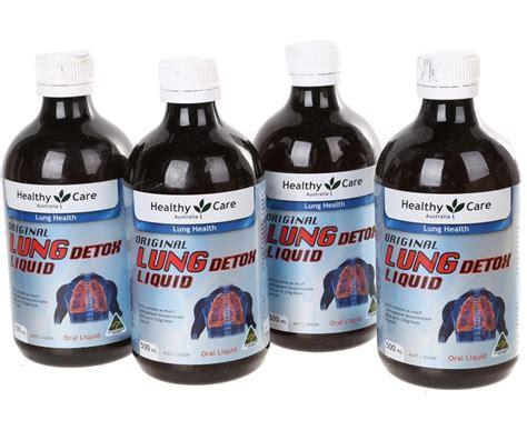 4 Bottle X Healthy Care Lung Detox Liquid 500ml Please