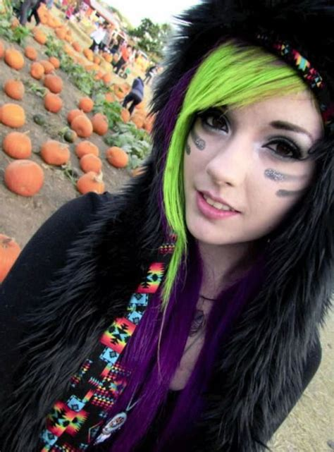 Leda Monster Bunny Bright Lime And Purple Hair Leda