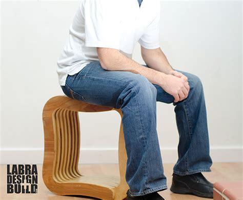 layered plywood stool labra designbuild