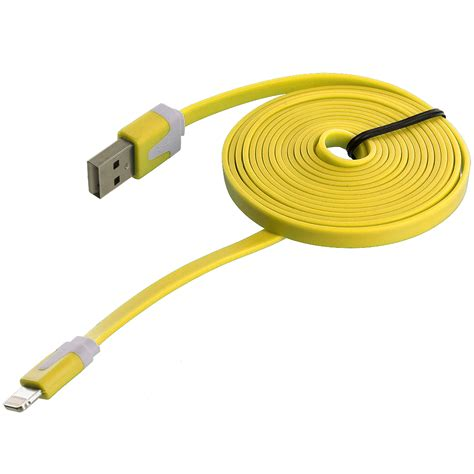 charger cord for iphone 6 6 ft noodle flat sync usb data charger cable cord 6ft for