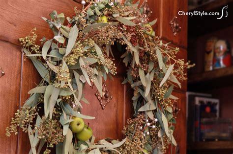 seasonal crab apple wreath   great decoration