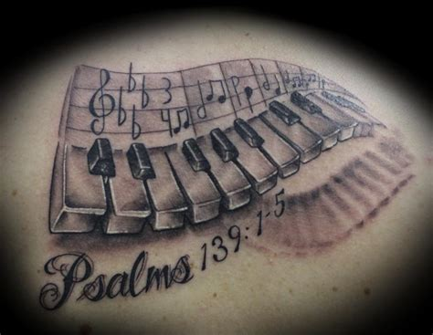 piano tattoo images designs
