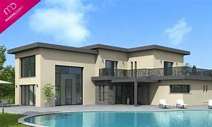 prix maison toit terrasse belle ralisation maison With good photo maison toit plat 6 maison de star contemporaine toit plat