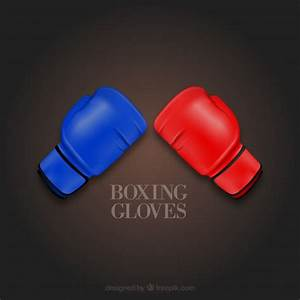 Colorful boxing gloves vector icons Vector | Free Download