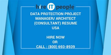 data protection project managerarchitect consultant