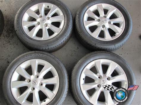 four 07 11 nissan sentra factory 16 wheels tires oem rims