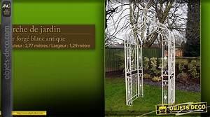 Arche De Jardin En Fer Forgé : tonnelle avec table et bancs en fer forg ~ Premium-room.com Idées de Décoration