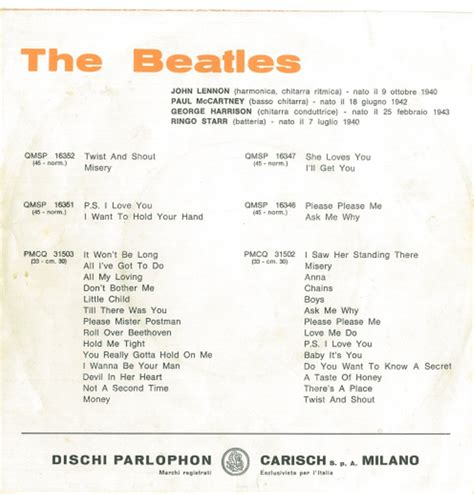 Misery Testo by The Beatles Twist And Shout Misery 1964 The Beat