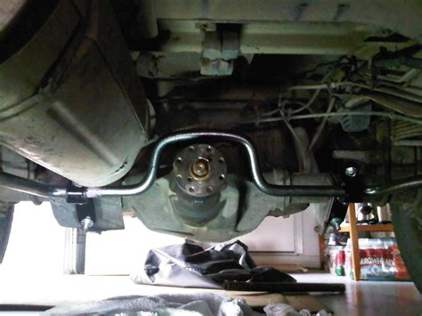 hellwig sway bar installed  extra nuts ford truck