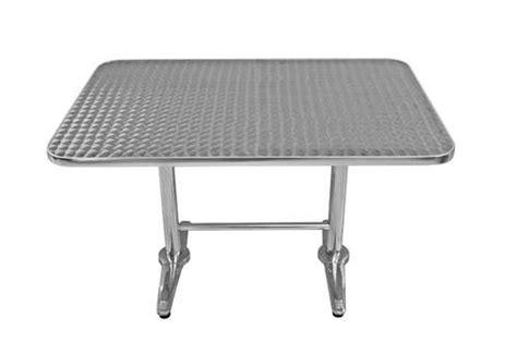 outdoor aluminum stainless steel restaurant table and
