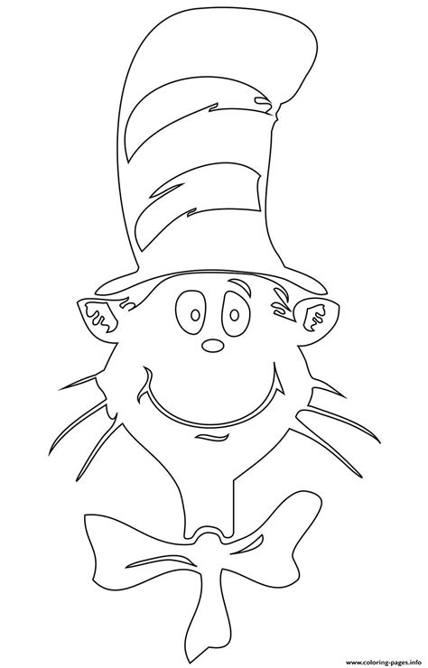 cat   hat face coloring pages printable