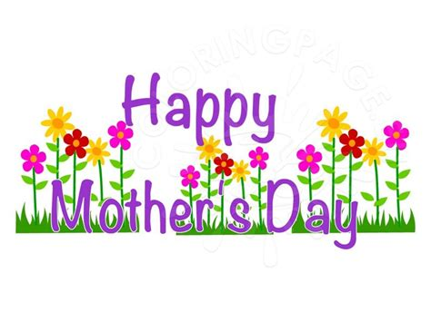 mothers day clipart happy s day clip coloring page