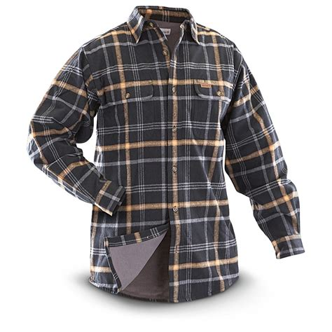 flannel shirt jacket with quilted lining lined flannel shirt jacket jacket to