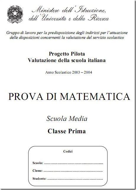Prove Ingresso Prima Media by Allenatevi Con Le Prove Invalsi Per La Prima Media