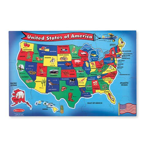 And Doug Floor Puzzles by U S A United States Map Floor Puzzle 51 Pieces