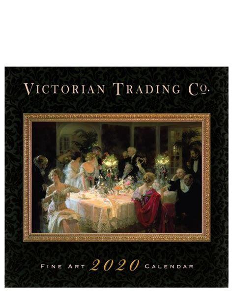 victorian trading wall calendar