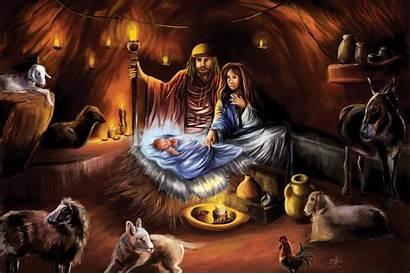 Jesus Manger Christmas Birth Christ Wallpapers Born