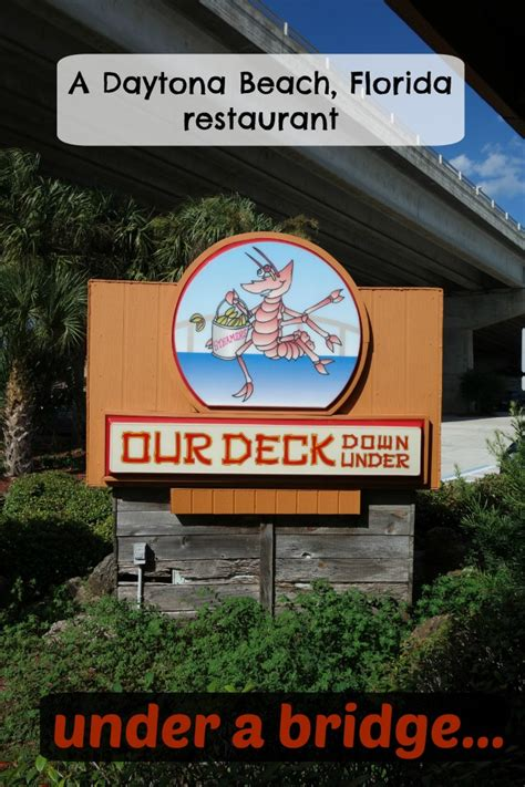 Deck Daytona Menu by Our Deck A Secret Daytona Spot