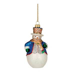 marquis by waterford top hat snowman christmas tree ornament
