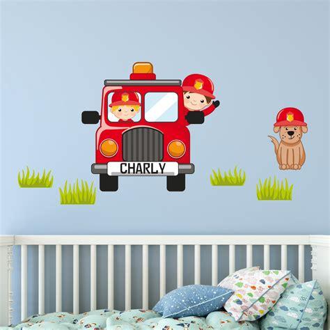 Wandtattoo Kinderzimmer Mit Wunschnamen by Kinderzimmer Wandtattoo Feuerwehr Set Mit Wunschname