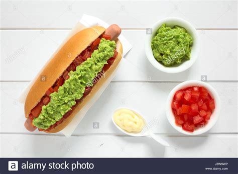zutaten auf englisch chilenische completo italiano italienische traditionellen sandwich gemacht brot