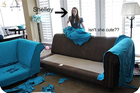 How To Make A Slipcover For A Loveseat by My Slipcovered Sectional And A Giveaway Tatertots And Jello