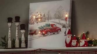 vintage truck led light up canvas wall 6ltc6190