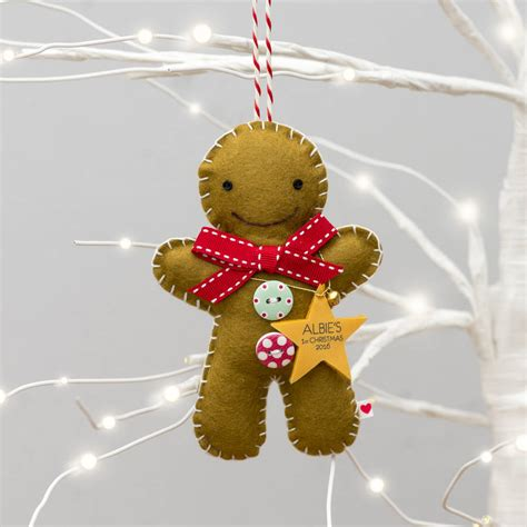 baby s first christmas gingerbread man decoration by miss