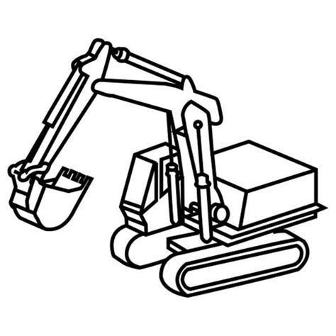 Coloring Excavator by How To Draw Excavator Coloring Pages Print