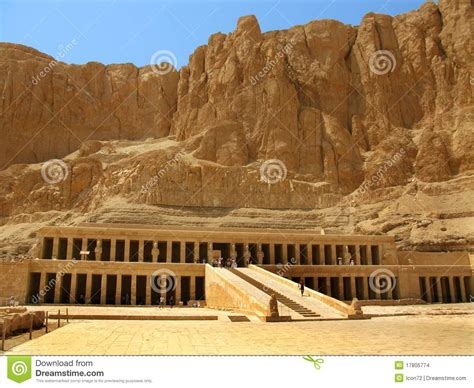 Temple Of Hatshepsut Kings Valley Luxor Egypt Stock