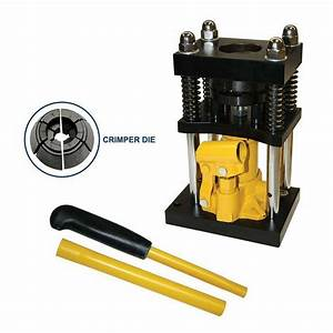 Manual Benchtop Hydraulic Bottle Jack Hose Crimper  8