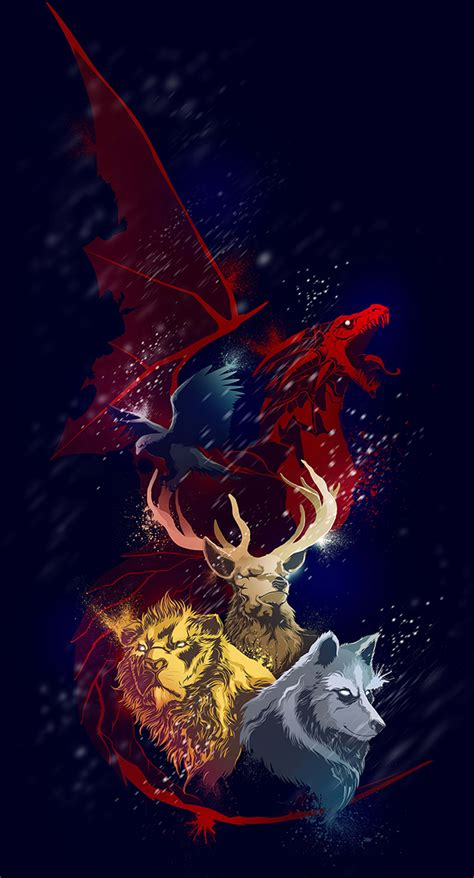 game  thrones sigils  behance