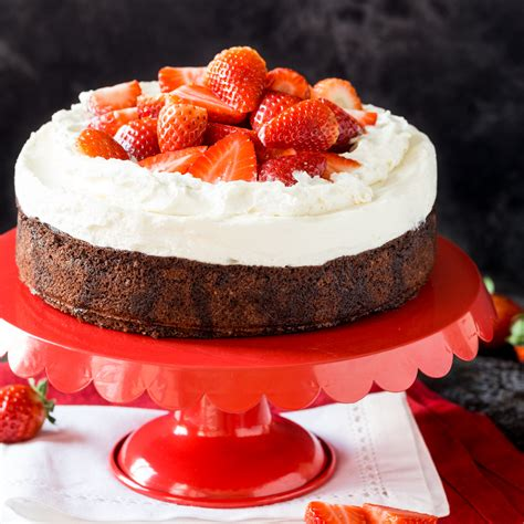 dreifach lecker erdbeer brownie cheesecake