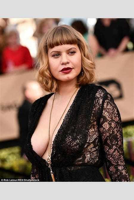OITNB star Emily Althaus braless at SAG Awards | Daily Mail Online