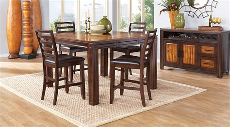 kitchen dinette sets with bench adelson chocolate 5 pc counter height dining room dining