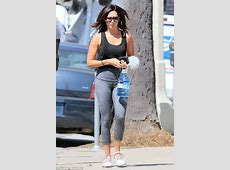 Ashley Tisdale walks to a work out in Los Angeles Daily