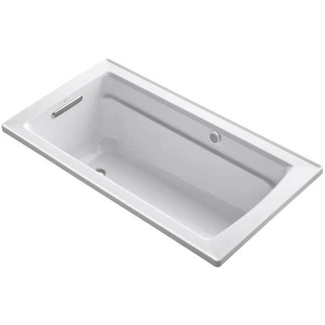 kohler bathtubs home depot kohler archer 5 ft acrylic rectangular drop in whirlpool