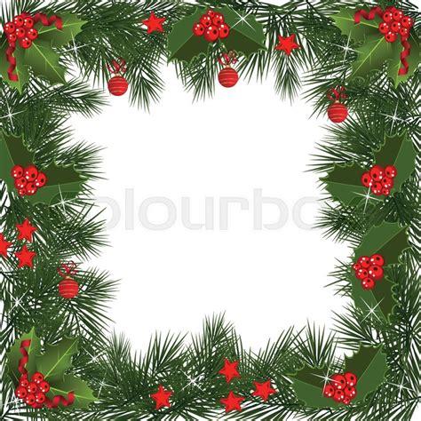 traditional christmas garland  stock vector