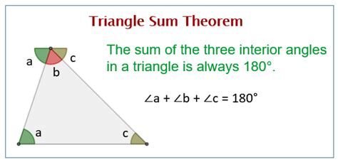 triangle sum theorem solutions examples worksheets
