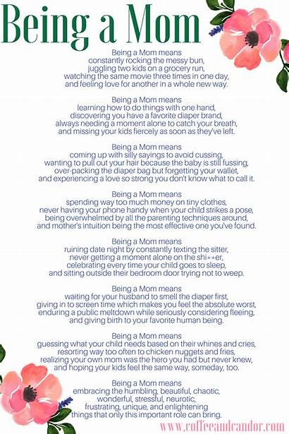 Quotes Mommy Poems Mom Being Poem Mother