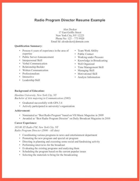 exle of a well written resume resume exles 2017