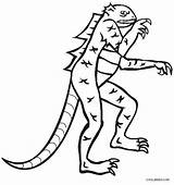 Lizard Coloring Pages Printable Cool2bkids Getdrawings Drawing Horned sketch template