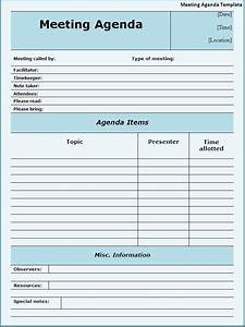 meeting agenda template new calendar template site With agendas for meetings templates free