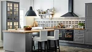 Ikea Accessoires Cuisine : latest carrelage mural cuisine ikea la cuisine en u avec ~ Dode.kayakingforconservation.com Idées de Décoration