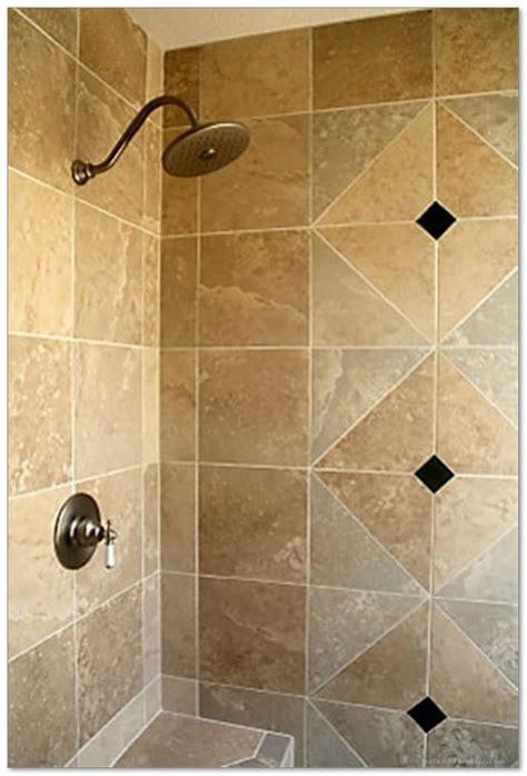 tiled shower stalls create distinctive  stylish shower zone home decor