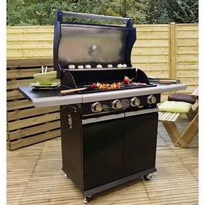 Barbecue Gaz Avec Plancha Et Grill : bbq silver barbecue am ricain gaz 4 br leurs fonte ~ Melissatoandfro.com Idées de Décoration
