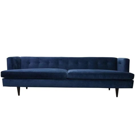 blue mid century modern sofa mid century modern edward wormley for dunbar tuxedo sofa