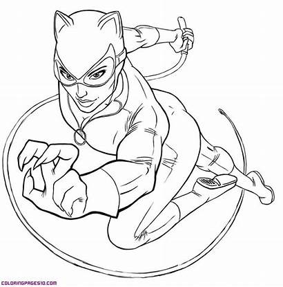 Catwoman Coloring Pages