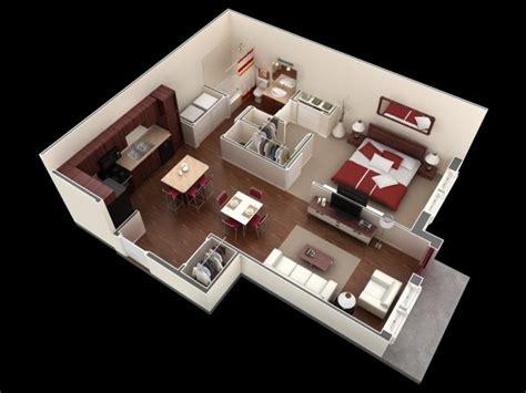 plan chambre 3d 50 plans en 3d d appartement avec 1 chambres