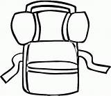 Backpack Coloring Pages Popular Getcoloringpages Clipart Coloringpages101 Accessories sketch template